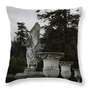 Angel And Garden Urns Throw Pillow