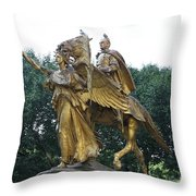Angel And Tecumseh Sherman Throw Pillow