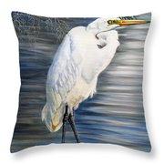 Angel At Sylvia's Pond Throw Pillow