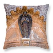 Angel Black Throw Pillow