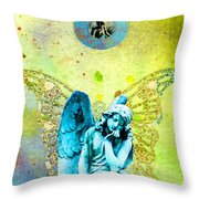 Angel Blessings 3 Throw Pillow