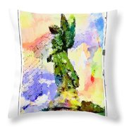 Angel Colors Throw Pillow