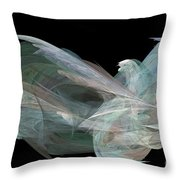 Angel Dove Throw Pillow by Elizabeth McTaggart