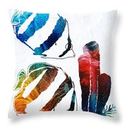 Angel Fish Art - Little Angels 2 - By Sharon Cummings  Throw Pillow
