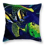 Angel Fish Throw Pillow