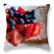 Angel Food And The Berries Throw Pillow