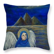 Angel From Eygpt Called Lapis Lazueli Throw Pillow