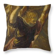 Angel From The Annunciation To The Virgin Throw Pillow