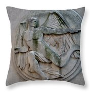 Angel In A Wall Throw Pillow