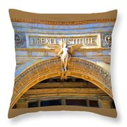 Angel In Drexel Throw Pillow