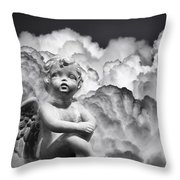 Angel In The Clouds Throw Pillow