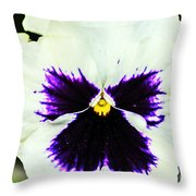Angel In The Flower Throw Pillow