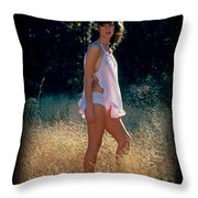 Angel In The Grasses 3 Throw Pillow