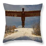 Angel In The Snow II Throw Pillow