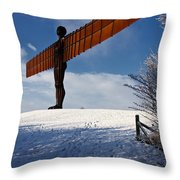 Angel In The Snow Iv Throw Pillow