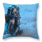 Angel In The Snow Throw Pillow