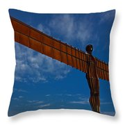 Angel In The Snow V Throw Pillow