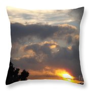 Angel In The Sunrise Throw Pillow