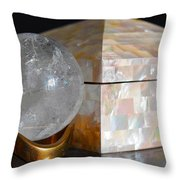 Angel In The Window Still Life Throw Pillow