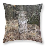 Angel In The Woods Throw Pillow