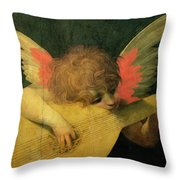 Angel Musician Throw Pillow