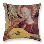 Angel Musician Throw Pillow