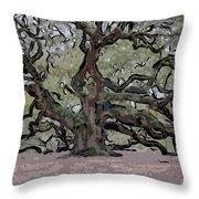 Angel Oak Digital Art Throw Pillow