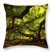 Angel Oak Limbs Crop 40 Throw Pillow