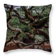 Angel Oak Tree Treasure Throw Pillow