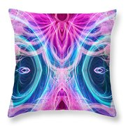 Angel Of Courage Throw Pillow
