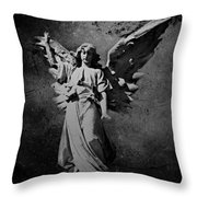 Angel Of Death Bw Throw Pillow