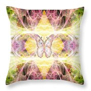 Angel Of Freedom And Release Throw Pillow