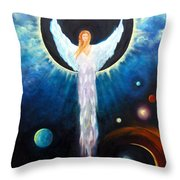 Angel Of The Eclipse Throw Pillow