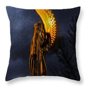 Angel Of The Morning Textured Throw Pillow