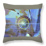Angel Of The Water Throw Pillow