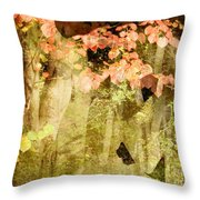 Angel Of The Woods Throw Pillow