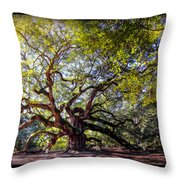 Angel Of Time Throw Pillow
