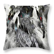 Angel Of Winter Throw Pillow