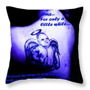 Angel On Her Shoulder Throw Pillow