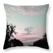 Angel On Pink Cloud Throw Pillow