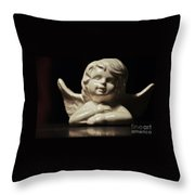 Angel On The Table Throw Pillow