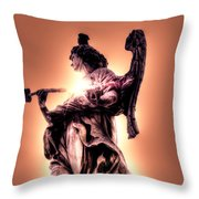 Angel Or Judge Throw Pillow