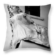 Angel Out The Window Throw Pillow