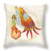 Angel Phoenix Throw Pillow