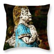 Angel Prayers Throw Pillow