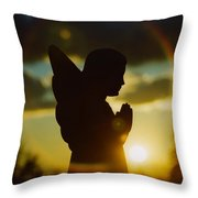 Angel Silhouette Throw Pillow