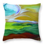Angel Sky Green By Jrr Throw Pillow