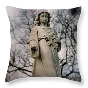 Angel Stare Throw Pillow