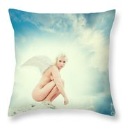 Angel Throw Pillow by Stelios Kleanthous