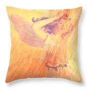 Angel Time  Throw Pillow